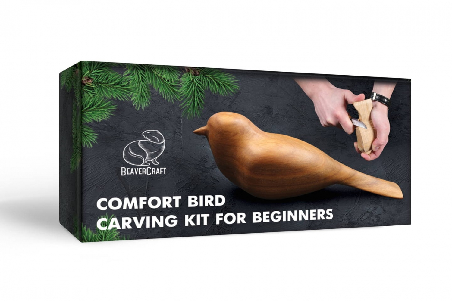 DIY01 – Comfort Bird Carving Kit – Complete Starter Whittling Kit for Beginners Adults Teens and Kids